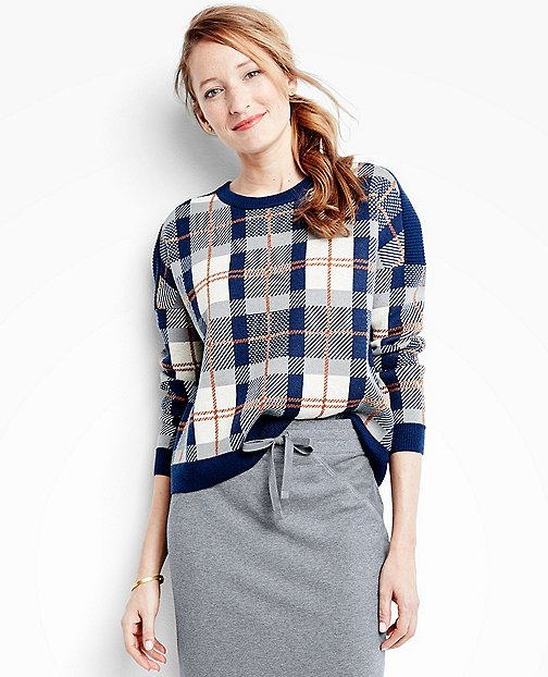 Women's Plaid Sweaterknit Pullover by Hanna Andersson