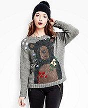 Women's Bear Hugs Sweater In Soft Alpaca by Hanna Andersson