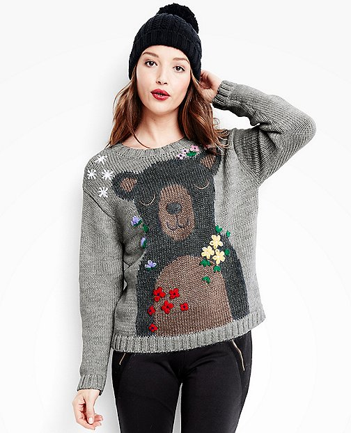 Women's Bear Hugs Sweater In Soft Alpaca by Hanna Andersson