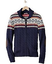Men's Up North Zip Cardigan by Hanna Andersson