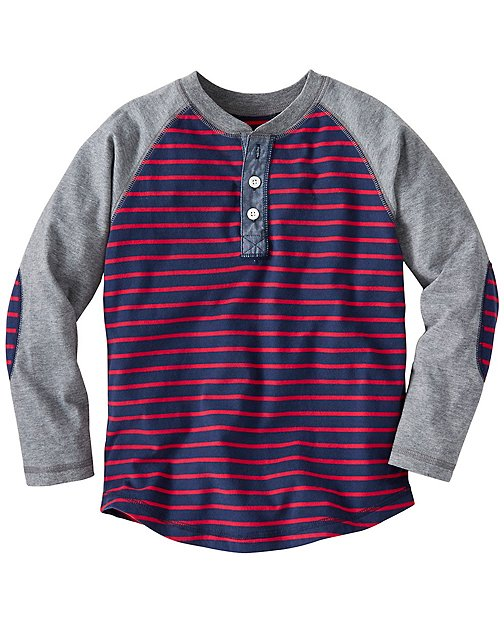 Boys Colorblock Henley In Supersoft Jersey by Hanna Andersson