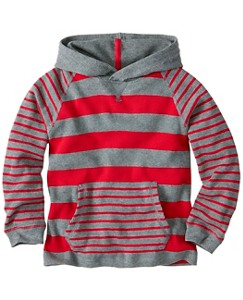 Boys Stripey Thermal Hoodie Pullover by Hanna Andersson