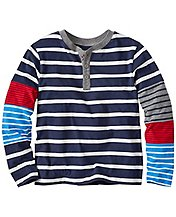 Boys Hypersleeve Henley In Supersoft Jersey by Hanna Andersson