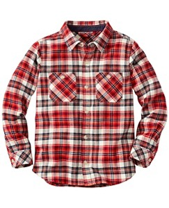 Up North Shirt In Supersoft Flannel by Hanna Andersson