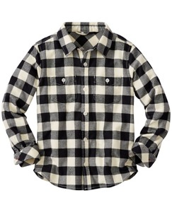Boys Buffalo Check Shirt In Supersoft Flannel by Hanna Andersson
