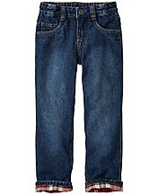 Boys Flannel Lined Straight Leg Jeans by Hanna Andersson