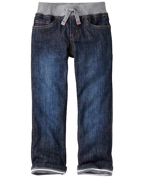 Boys Jersey Lined Jeans by Hanna Andersson