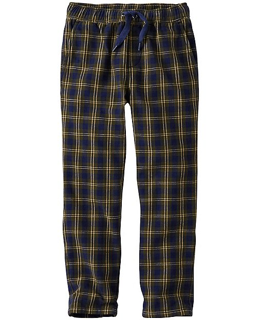 Boys Doublesoft Pants In Plaid Twill by Hanna Andersson