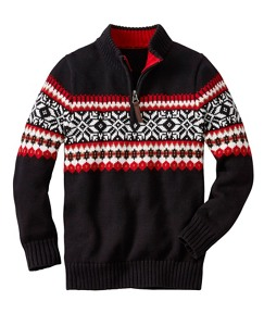 Boys Snö Happy Sweater by Hanna Andersson