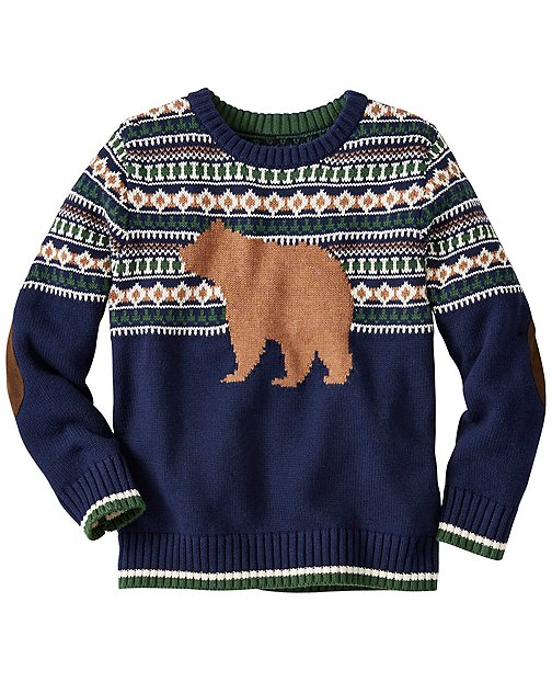 Boys Cozy Critter Sweater by Hanna Andersson