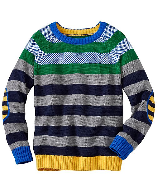Boys Stacks Of Stripes Sweater by Hanna Andersson