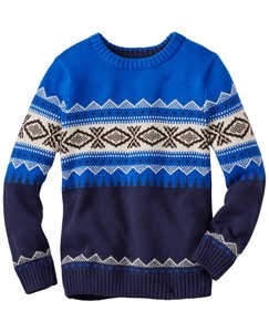 Boys Ski Run Sweater by Hanna Andersson