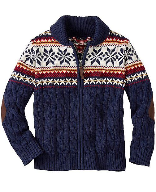 Boys Up North Zip Cardigan by Hanna Andersson