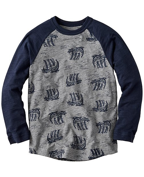 Boys Raglan Art Tee In Slub Jersey by Hanna Andersson