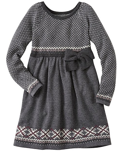 Girls Heathery Sweater Dress by Hanna Andersson