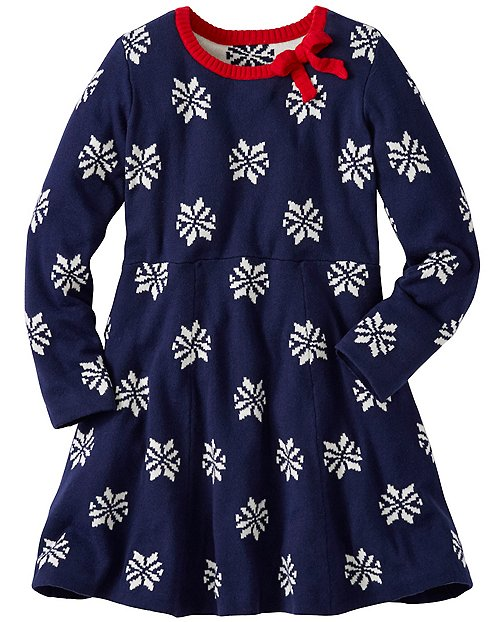 Girls Snow Stars Sweater Dress by Hanna Andersson