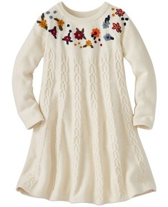 Girls Cable Cozy Sweater Dress by Hanna Andersson