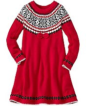 Girls Snö Happy Sweater Dress by Hanna Andersson
