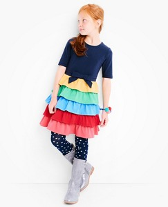 Girls Skater Dress With Ruffle Skirt by Hanna Andersson