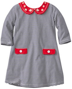 Girls Stripey Peter Pan Dress by Hanna Andersson