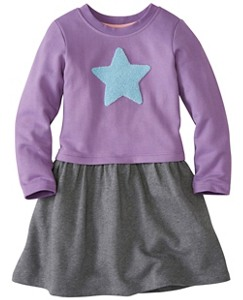 Girls Get Appy Appliqué Dress in French Terry by Hanna Andersson