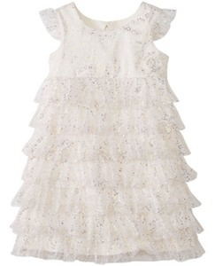 Girls Glitter Ruffle Dress by Hanna Andersson