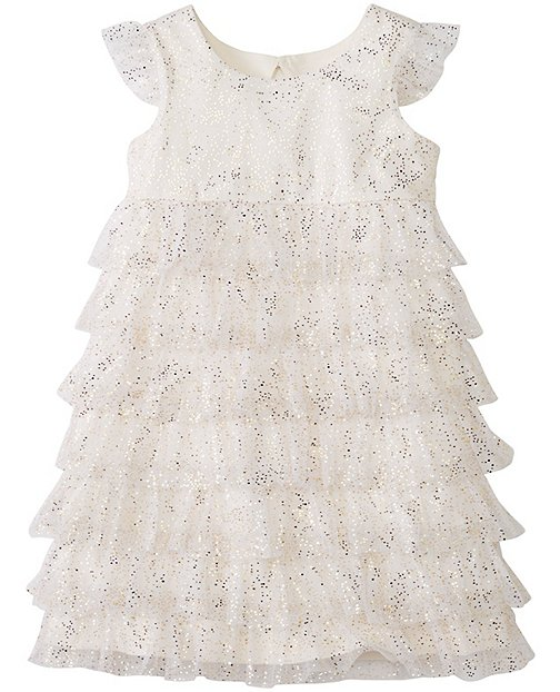 Girls Glitter Ruffle Dress by Hanna Andersson