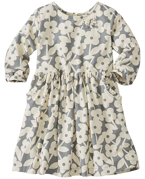Girls Scandi Floral Pincord Dress by Hanna Andersson
