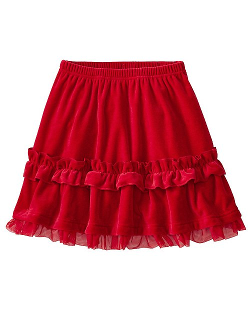 Girls Twirl Skirt In Supersoft Velour by Hanna Andersson