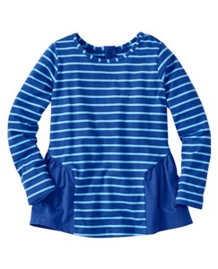 Girls Stripey Peplum Popover by Hanna Andersson