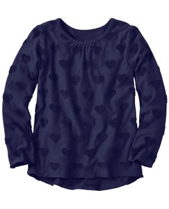 Girls Soft Hearts Hi-Lo Top by Hanna Andersson