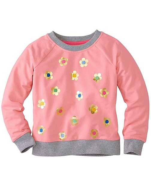 Girls Go-To Sweatshirt In French Terry by Hanna Andersson