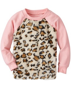 Girls Kit Cat Furry Sweatshirt by Hanna Andersson