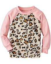 Girls Kit Cat Furry Sweatshirt
