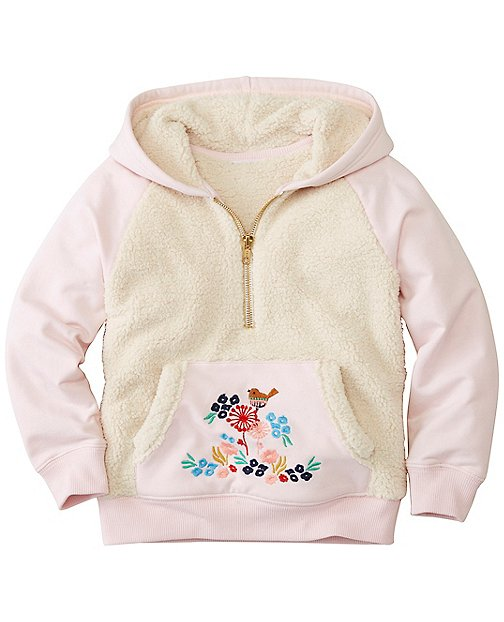 Girls Supercozy Sherpa Hoodie Sweatshirt by Hanna Andersson