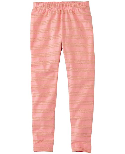 Girls Glitter Stripe Livable Leggings by Hanna Andersson