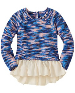 Girls Chiffon Peplum Sweater by Hanna Andersson