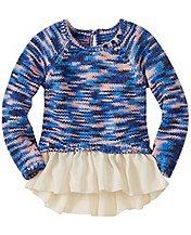 Girls Chiffon Peplum Sweater by Hanna Andersson