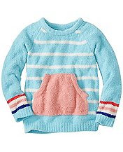 Girls Stripey Marshmallow Sweater
