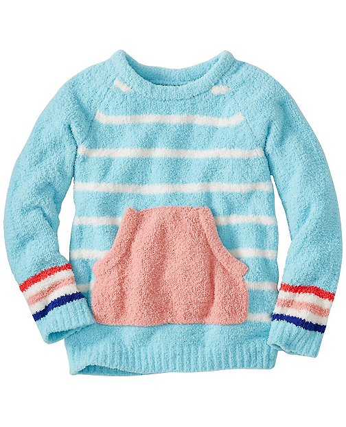 Girls Stripey Marshmallow Sweater by Hanna Andersson