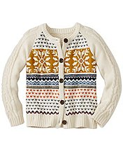 Girls Cable Cozy Fair Isle Cardigan by Hanna Andersson