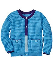 Girls Cozy Cotton & Wool Cardigan by Hanna Andersson