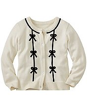 Girls Velvet Ribbon Cardigan by Hanna Andersson