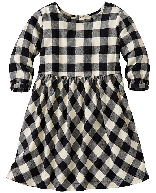 Girls Buffalo Check Dress In Supersoft Flannel by Hanna Andersson