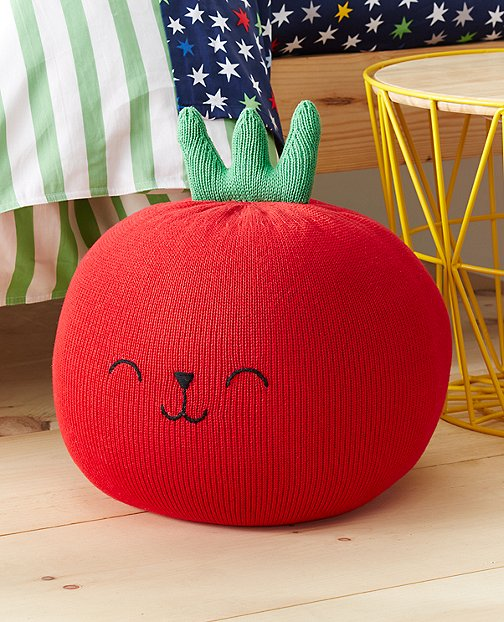 Handknit Tomato Pillow by Hanna Andersson