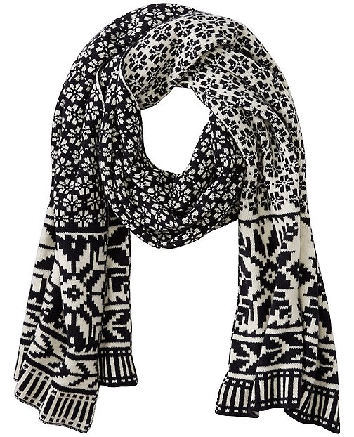 Women's Fair Isle Scarf In Cotton & Merino by Hanna Andersson