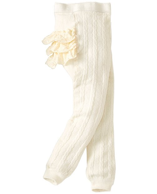 Baby Ruffle Seat Ankle Tights by Hanna Andersson