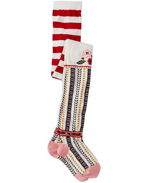 Girls Snö Happy Tights by Hanna Andersson