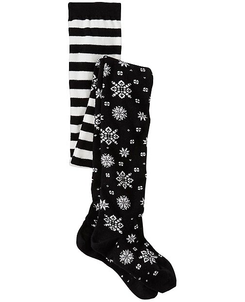 Girls Shimmer Snowflake Tights by Hanna Andersson