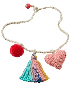 Kids Crochet Charm Necklace by Hanna Andersson